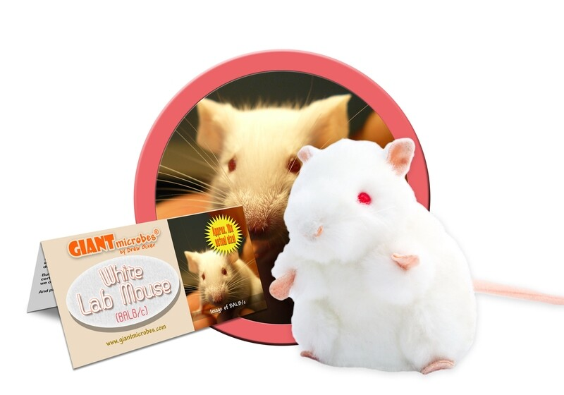 Giant M Toy - White Lab Mouse