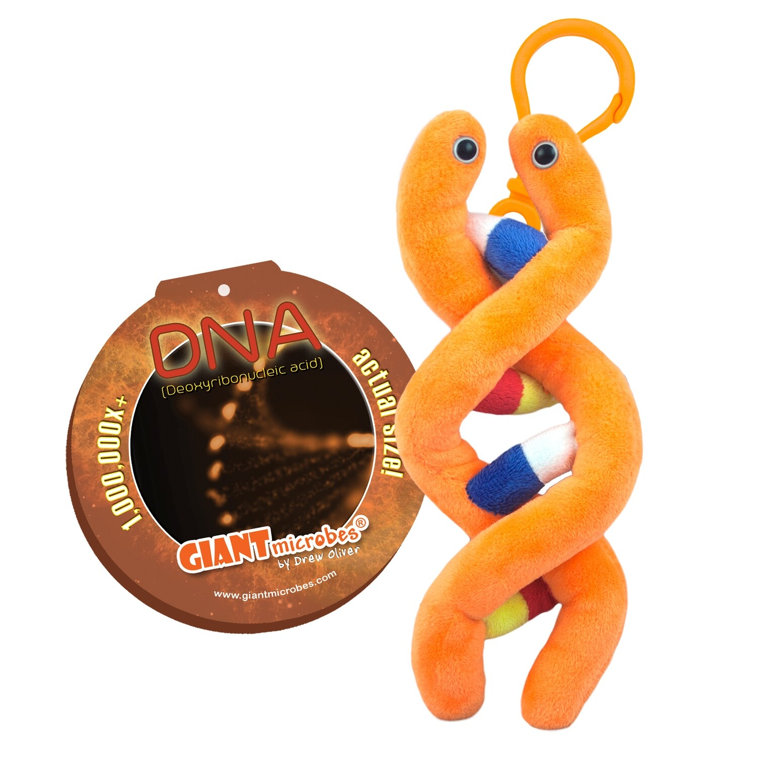 Giant Microbe KeyChain DNA