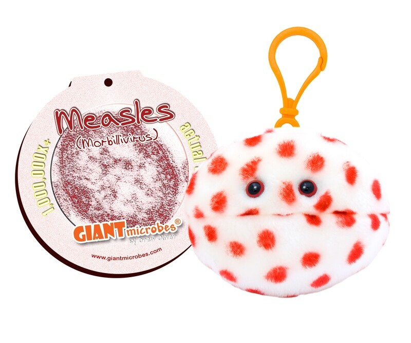 Giant Microbes Keychain - Measles