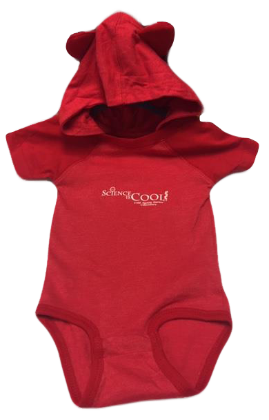 Child Onesie with Ears - Red