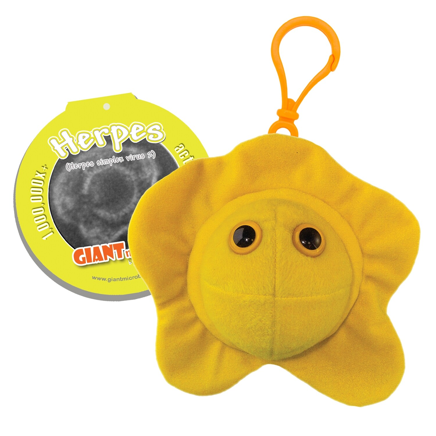 Giant Microbes KeyChain - Herpes