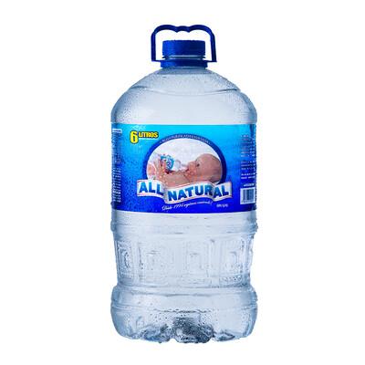 Agua ALL NATURAL Galón 6 LTs