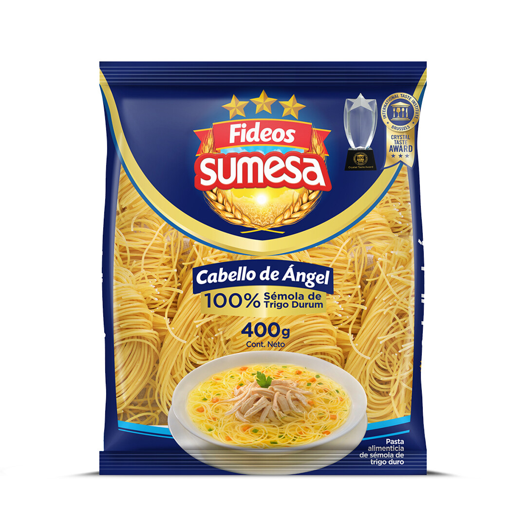 Fideos Sumesa pasta lrosca Cabello de Angel 400g