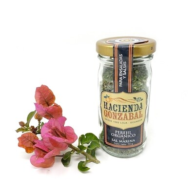 Perejil orgánico + sal marina - frasco 70 g