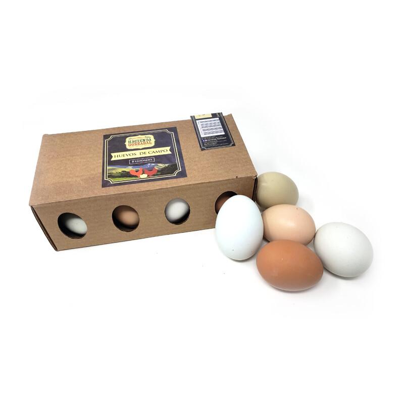 Huevos de Campo Orgánicos - Caja x 8 Unidades