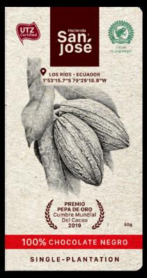 Barra Chocolate Hacienda San Jose 100% Dark