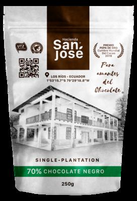 Funda Bites Chocolate Hacienda San Jose 70%
