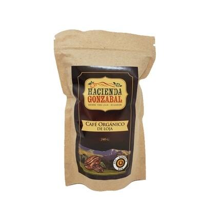 Café orgánico tostado y molido - funda de 240 g