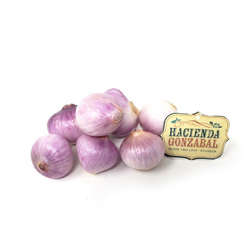 Cebolla colorada orgánica - malla 4 unidades aprox 450 g
