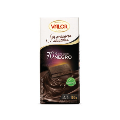 Chocolate 70% Negro Sin Azúcar / VALOR