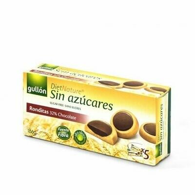 Ronditas con chocolate negro Sin Azucar 186gr / GULLON
