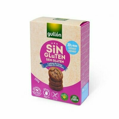 Galleta s/gluten de Cacao con chispas choco 200gr 12 Unidades / GULLON