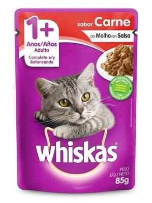 Wishkas alimento húmedo / 1 año y mas - Carne 85g