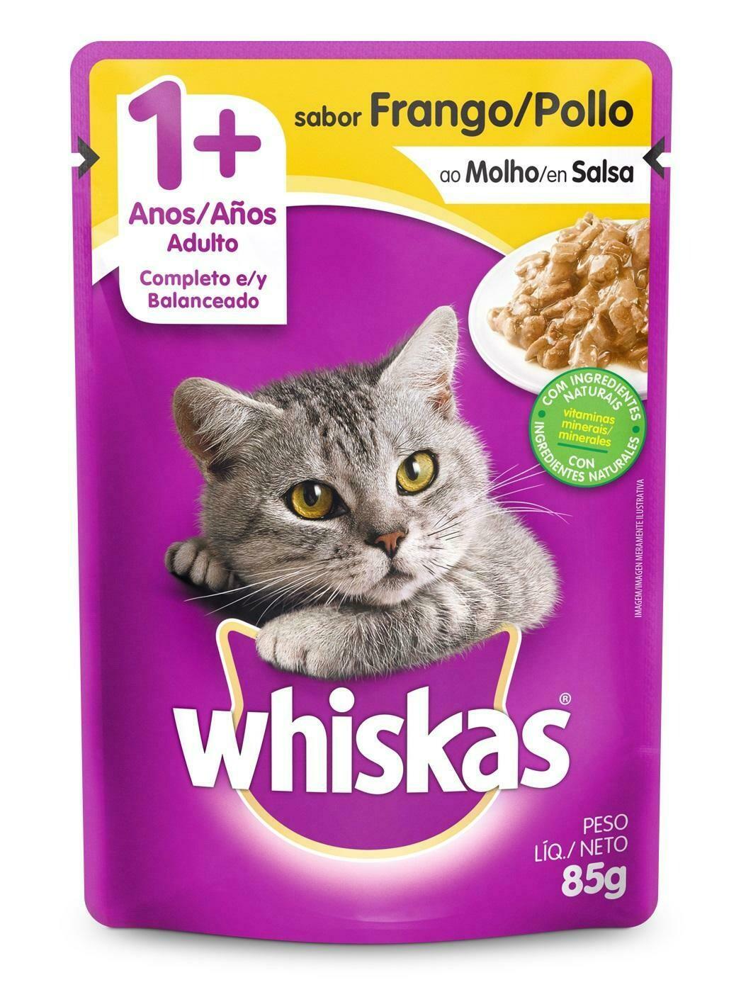 Wishkas alimento húmedo / 1 año y mas - Pollo 85g