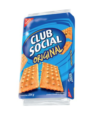 Galletas Club Social Sabor Original 234 g/ 9 Paquetes