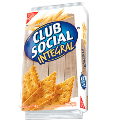 Galletas Club Social Sabor Integral 234 g/ 9 Paquetes