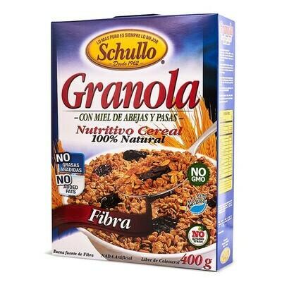Granola Schullo Fibra / Caja 400g