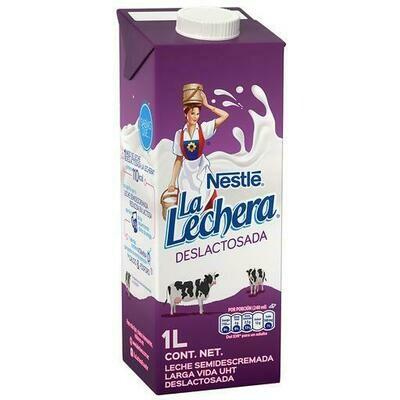 Leche LA LECHERA / Deslactosada 1lt