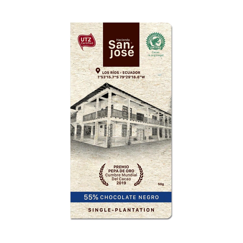 Barra Chocolate Hacienda San Jose 55% Dark