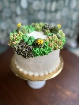 Succulent Wreath Cake