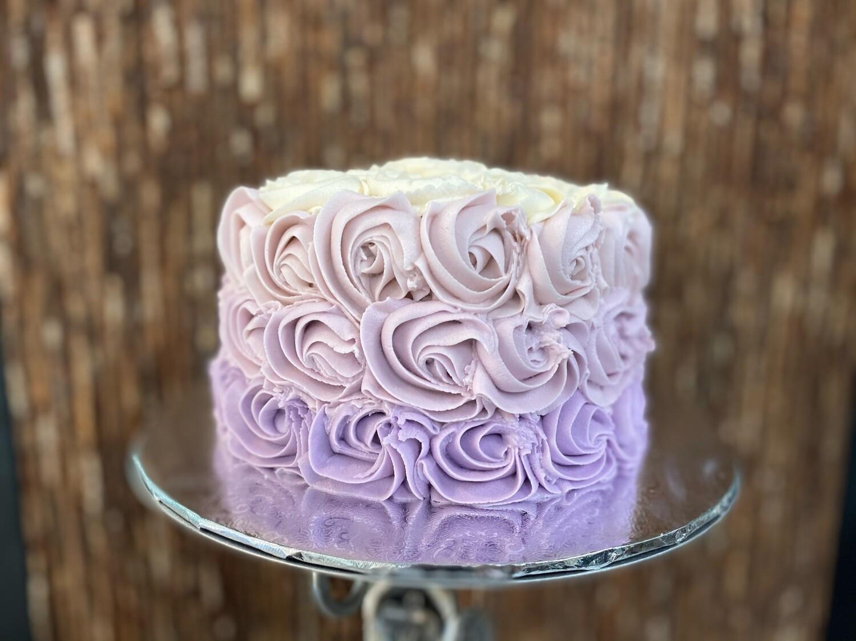 Ombre Rosette Cake