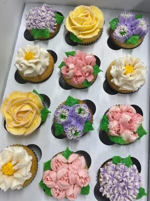 Flower Garden Cupcake Decorating
