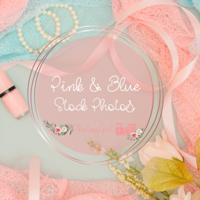Pink & Blue Stock Images.