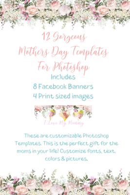 Mothers Day Photoshop Templates