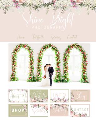 Rose & Olive Floral Branding Kit