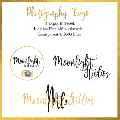 Photography Logo Black and Gold