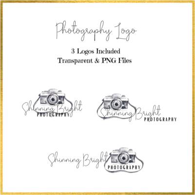 Photography Logo Black and White design
