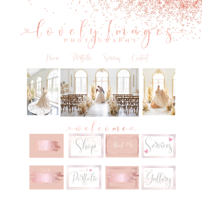 Rose Gold Branding Kit