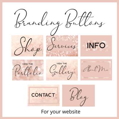 Branding Buttons Rose and Black