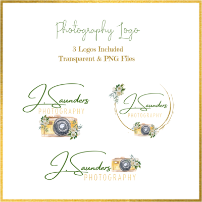 Photography Logo Green and Gold
