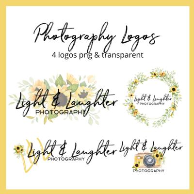 Photography Logo Sunflowers