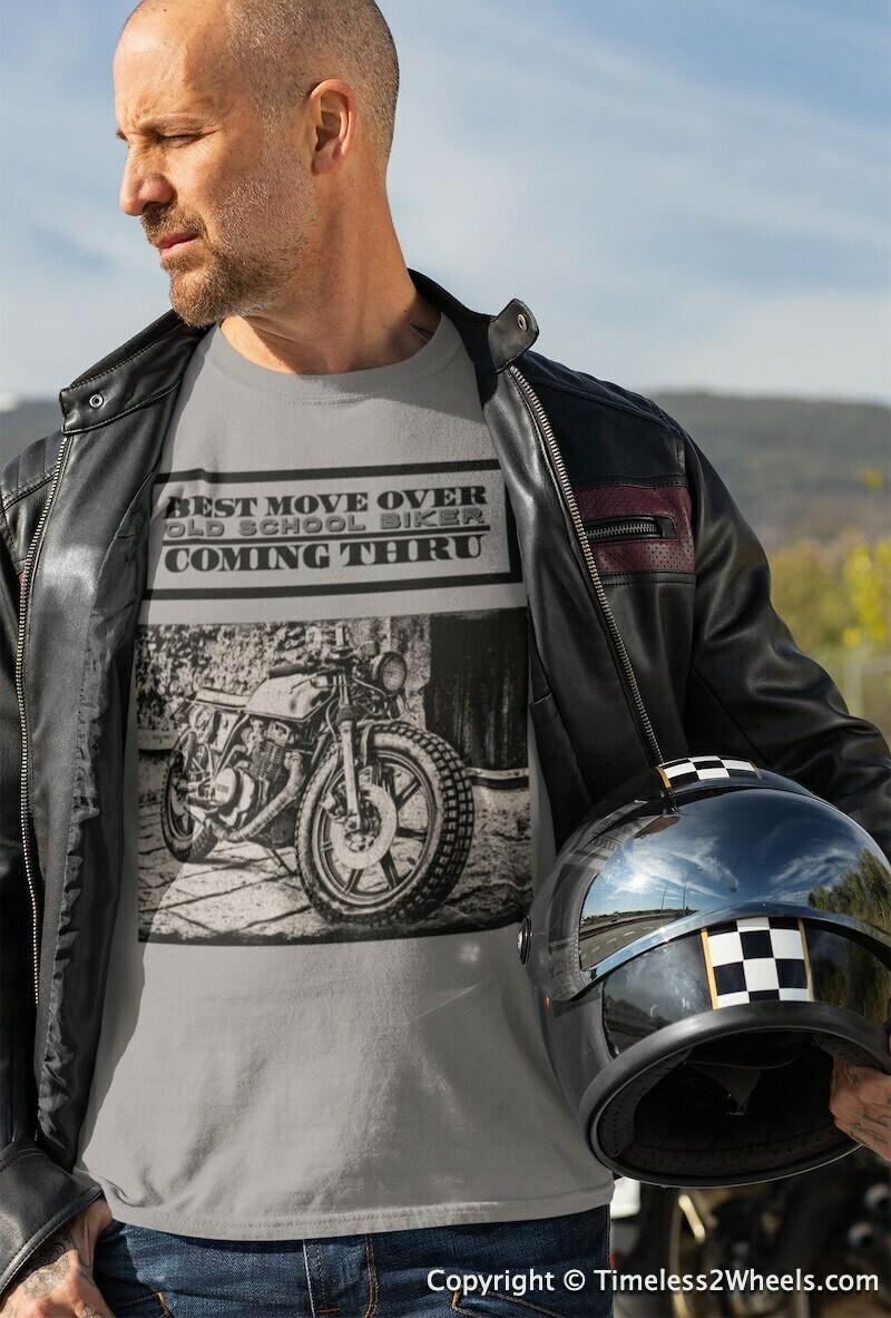 Old School Biker Cafe Racer T-Shirt
