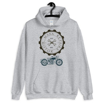 Manx Motorcycle Workshop Hoodie