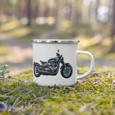 Triumph Bobber Enamel Mug