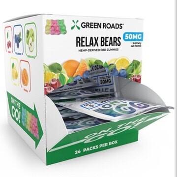 Relax Bears Gummy 50MG -24 Pack Box