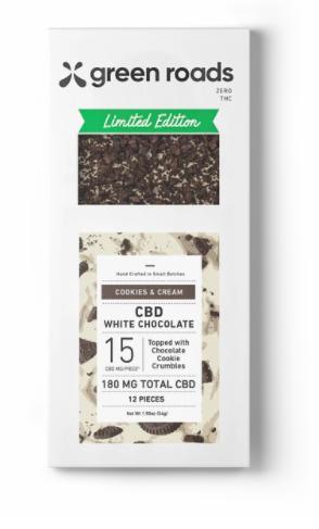 Cookies and Cream CBD chocolate bar