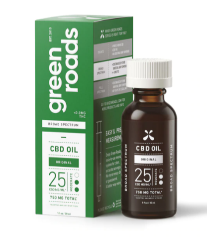 Broad Spectrum CBD oil - 750 MG bottle