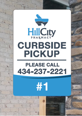 CURB SIDE PICKUP SIGNS (METAL, FREE SETUP & FREE SHIPPING)