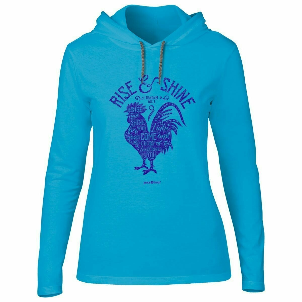 Rise & Shine Adult Hooded T-Shirt - FREE Shipping