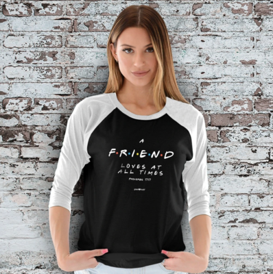Friend Raglan T-Shirt - FREE Shipping