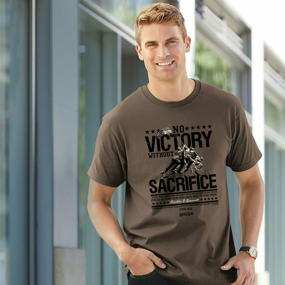 No Victory Without Sacrifice Adult T-Shirt - FREE Shipping