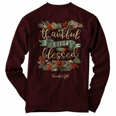 Thankful Adult Long Sleeve T-Shirt - FREE Shipping