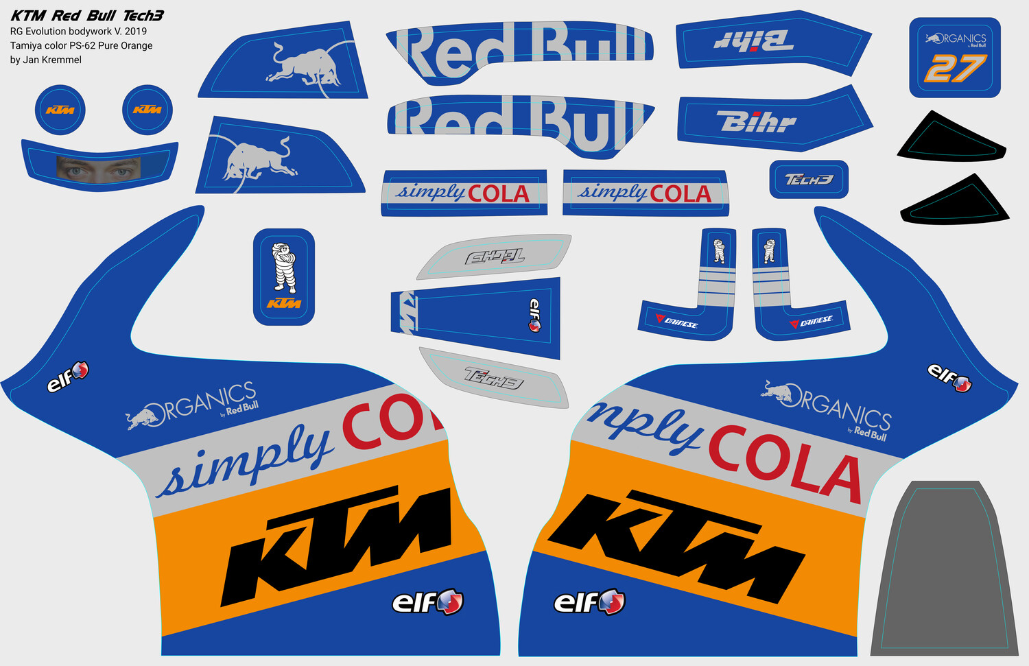 Decal-Set | KTM Red Bull Tech3