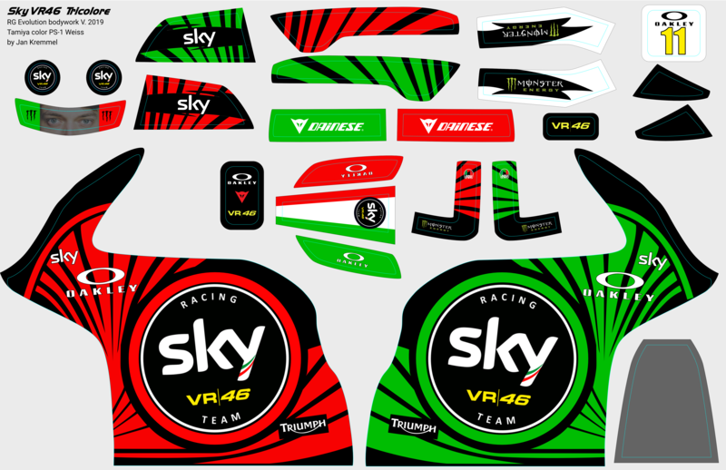 Decal-Set | Sky VR46 Tricolore