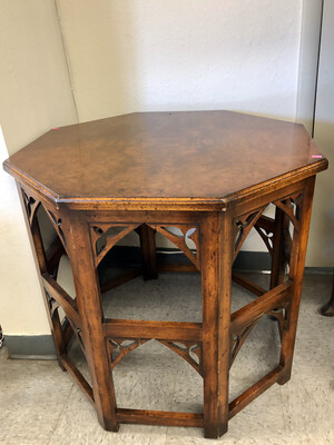 Wooden Octagon End Table