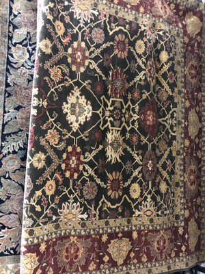 Mahal Designed Hand-Knotted Rug 10'2'' x 14'3''